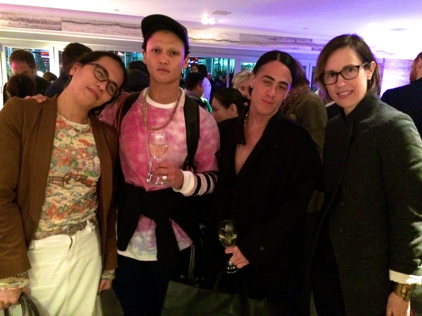 ICA/Duddell's 'Hong Kongese' preview with (L-R): Curator Christina Li; Spring Worskshop's artists-in-residence, Boychild and Wu Tsang; and Spring Workshop's Mimi Brown