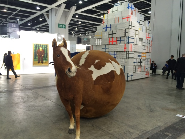 Yang Maoyuan at Encounters Sector, Art Basel in Hong Kong 2015