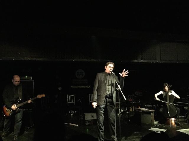 L-R: Teho Teardo; Blixa Bargeld' Martina Bertoni on cello
