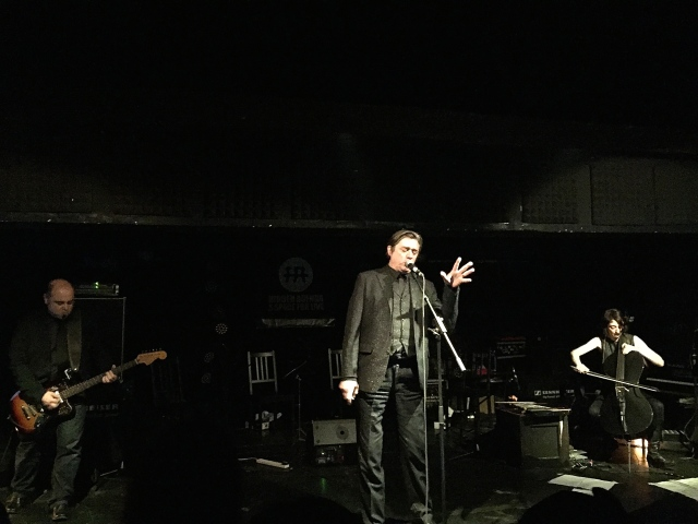 L-R: Teho Teardo; Blixa Bargeld' Martina Bertoni on cello