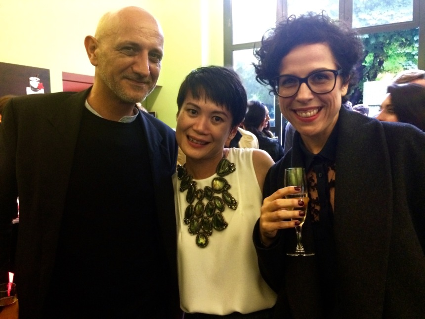 Art International director, Stephane Ackermann; Art Basel Asia director, Adeline Ooi; Art Basel gallery liaison, Dunja Gottweis