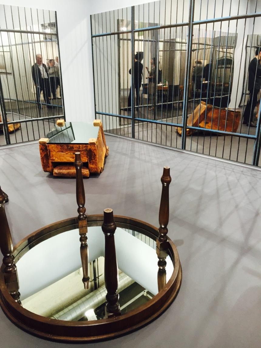 Michelangelo Pistoletto installation at Luxembourg & Dayan, Art Basel
