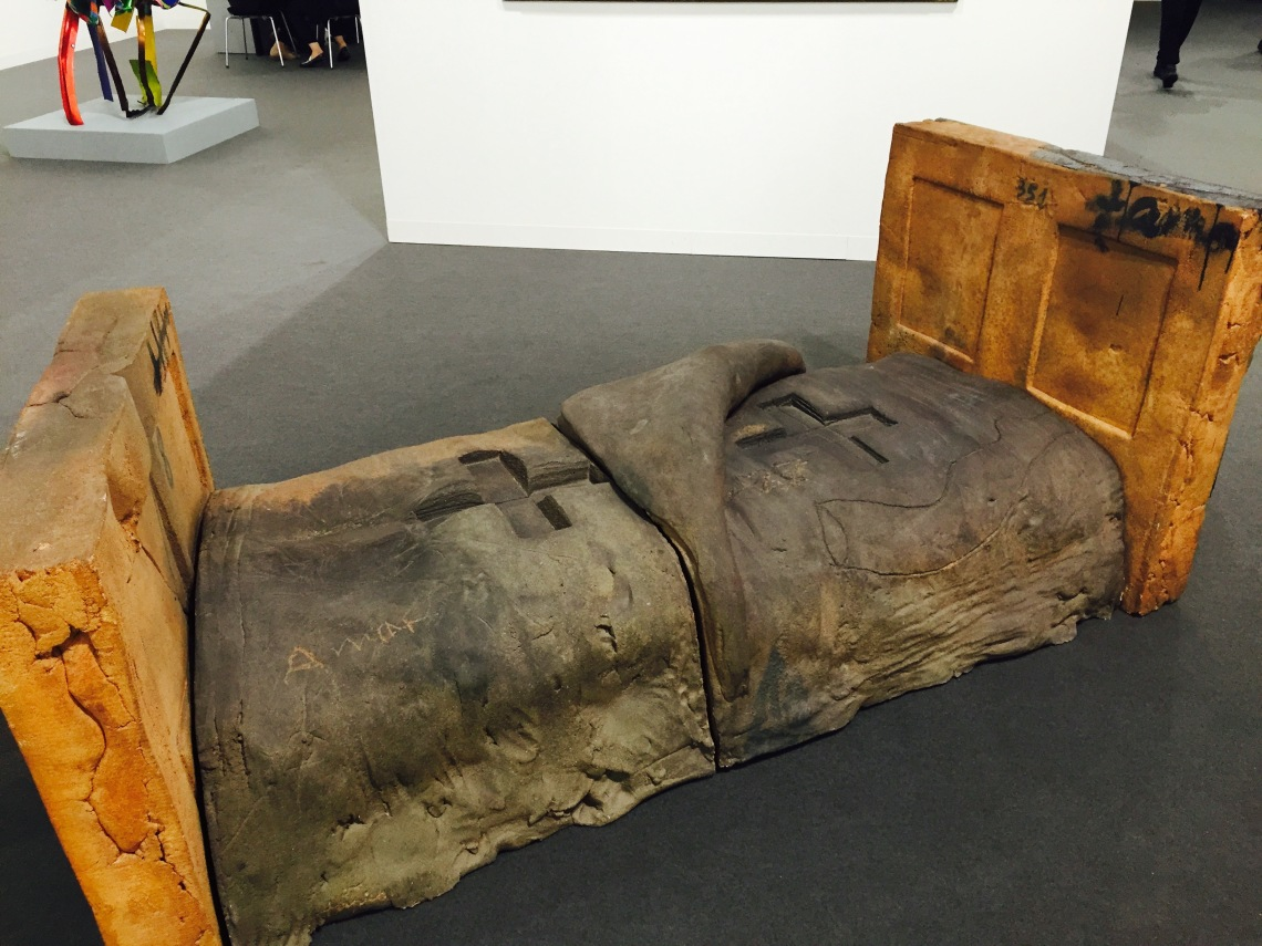 Antoni Tàpies, 'Llit Obert (Open Bed)', 1986, at Waddington Custot Galleries. Art Basel 2015