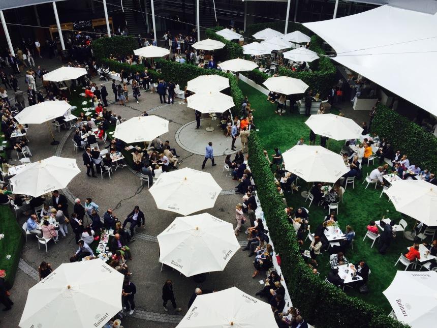 Art Basel Messeplatz courtyard