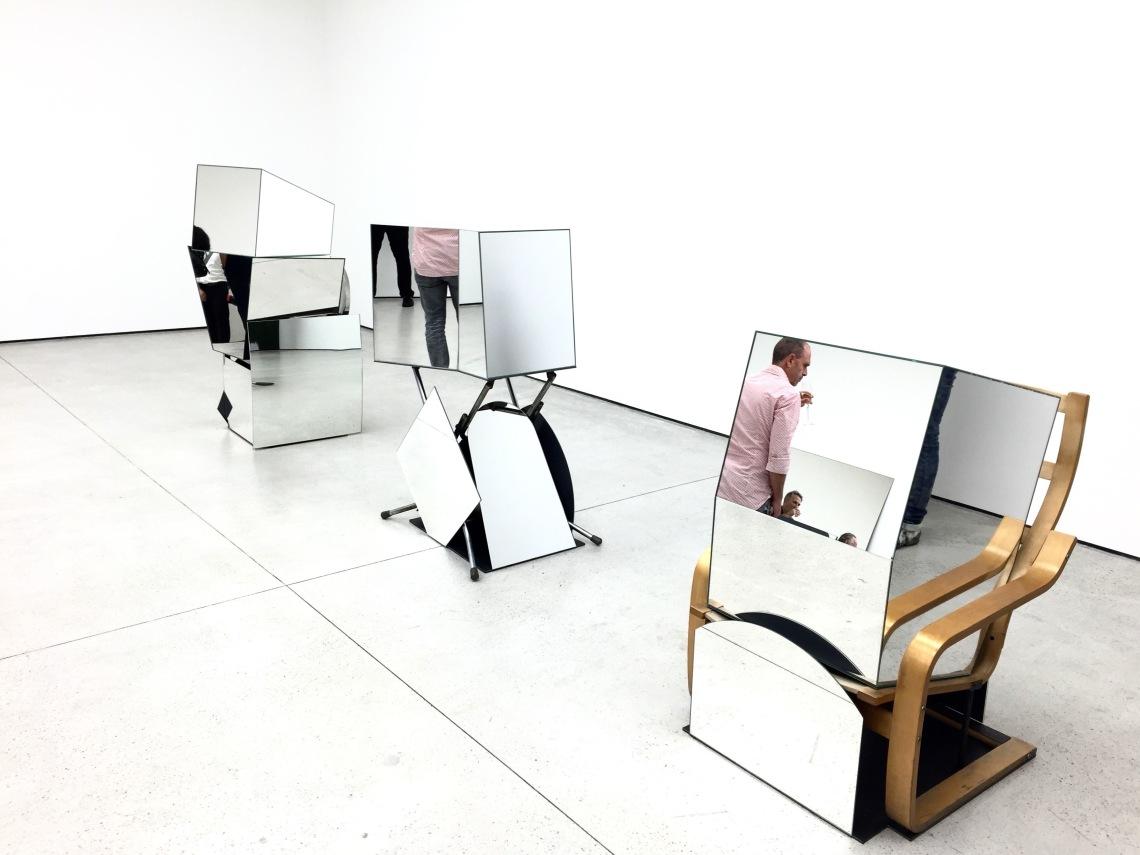 Installation view, Liu Wei, Silver, 2015.
