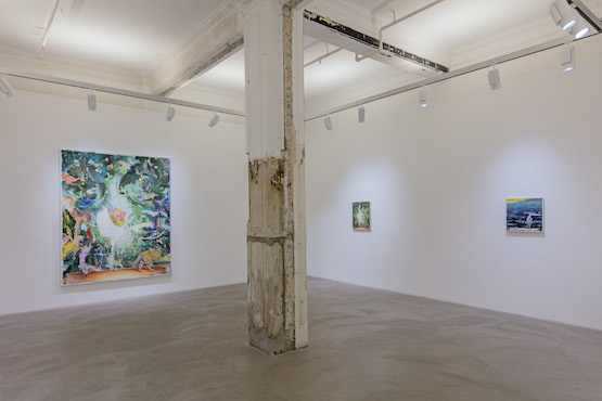 Matthias Weischer: Traces to nowhere. Installation view, Lehmann Maupin, Hong Kong. Courtesy the artist and Lehmann Maupin, New York and Hong Kong Photo: Kitmin Lee