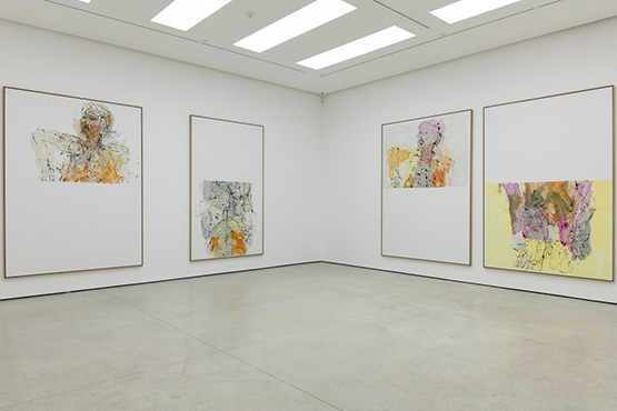 Installation view of Georg Baselitz' solo exhibition at White Cube Hong Kong. Photo: White Cube (Vincent Tsang).
